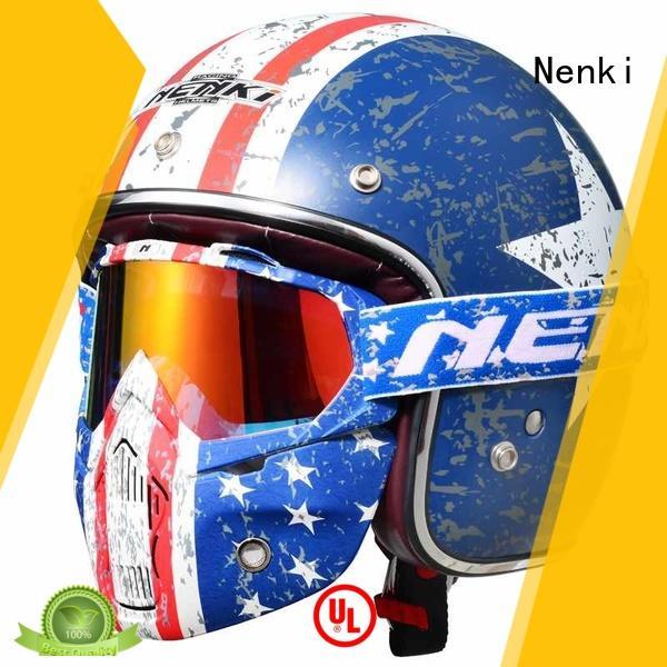 Nenki open face crash helmets for sale suppliers for motorbike