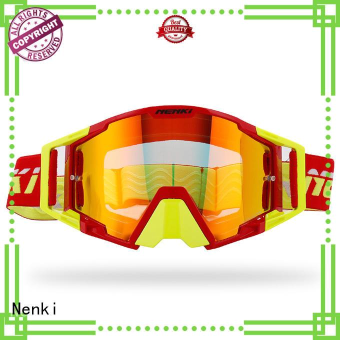 Windproof cheap motocross goggles Riding Nenki company