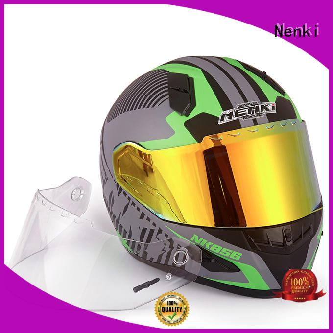Nenki Brand wholesale safe certified discount full face motorcycle helmets