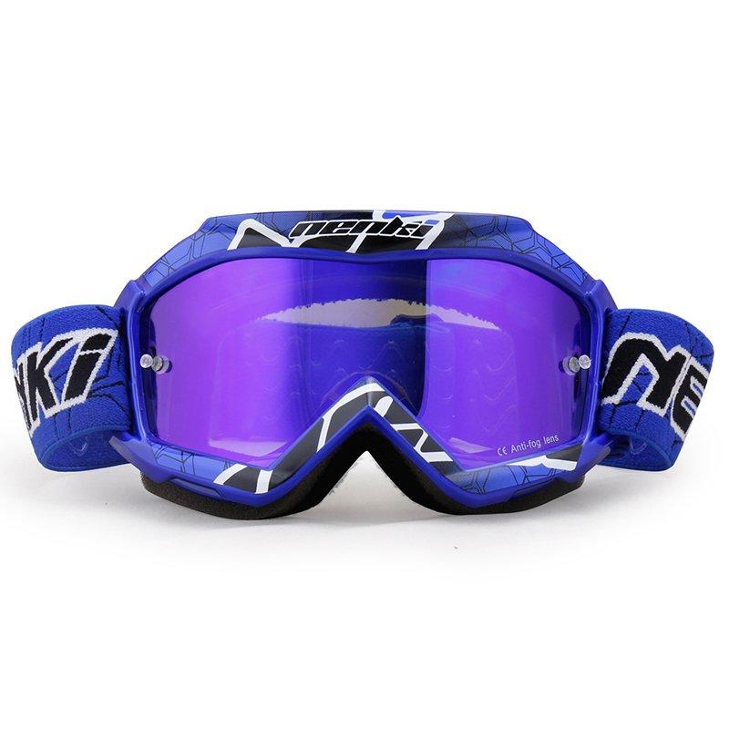 Kids Youth Motocross MX Goggles Anti Fog UV Protection Dirt Bike Motorcycle ATV Off Road Riding Glasses Adjustable Strap NK1018