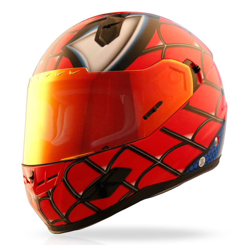 Nenki Motorcycle Helmets Full Face Helmet Street Bike DOT Certified 2 Visors with Clear Shield Dual Visors Fiberglass Shell Spiderman Full Face Helmets image9