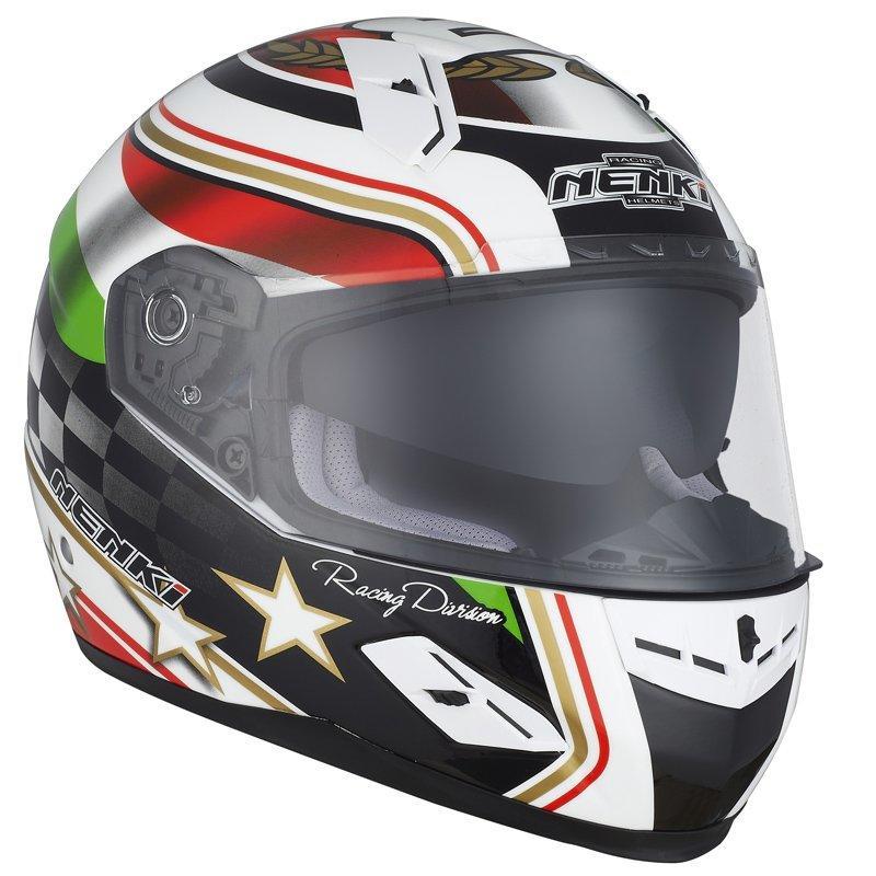 Motorcycle Helmets Full Face Helmet  ECE Approved Street Bike 2 Visors with Clear Shield Dual Visors Fiberglass Shell NK-856
