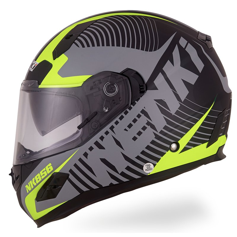 Nenki Motorcycle Helmets Full Face Helmet  ECE Approved Street Bike 2 Visors with Clear Shield Dual Visors Fiberglass Shell NK-856 Full Face Helmets image3
