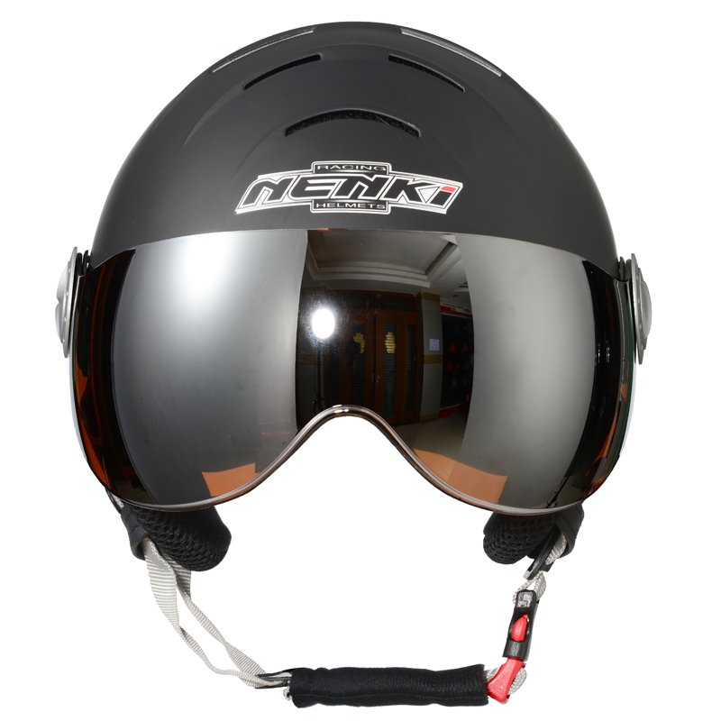 Black Matte--Orange Visor