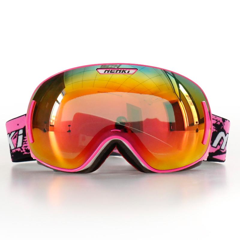 Nenki Ski Goggles Snow Goggles 100% 400 UV Protection Anti Fog Outdoor Sports Snowboard Glasses Revo NK1006 Nenki Ski Goggles image2