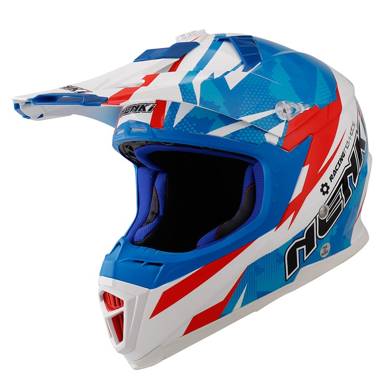 Nenki custom blue motocross helmets manufacturers for outside-5