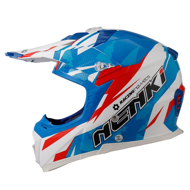 Nenki custom blue motocross helmets manufacturers for outside-6