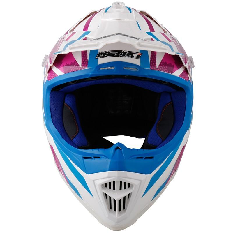 Nenki custom blue motocross helmets manufacturers for outside
