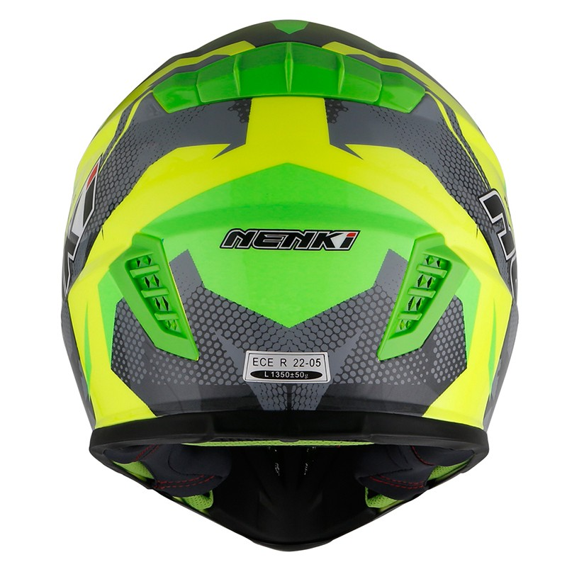 Nenki custom blue motocross helmets manufacturers for outside-4