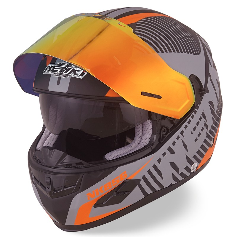 Nenki full face helmet with goggles suppliers for outside-6