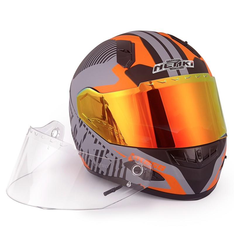 Nenki full face helmet with goggles suppliers for outside-11
