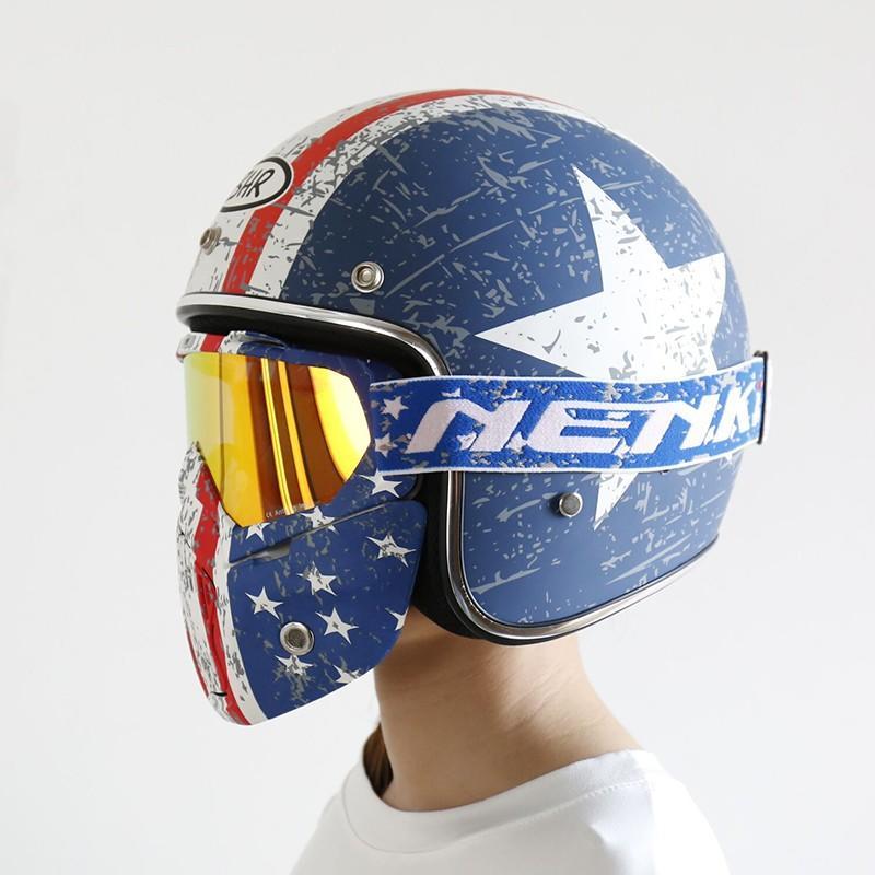 Hot open face helmets online wholesale Nenki Brand