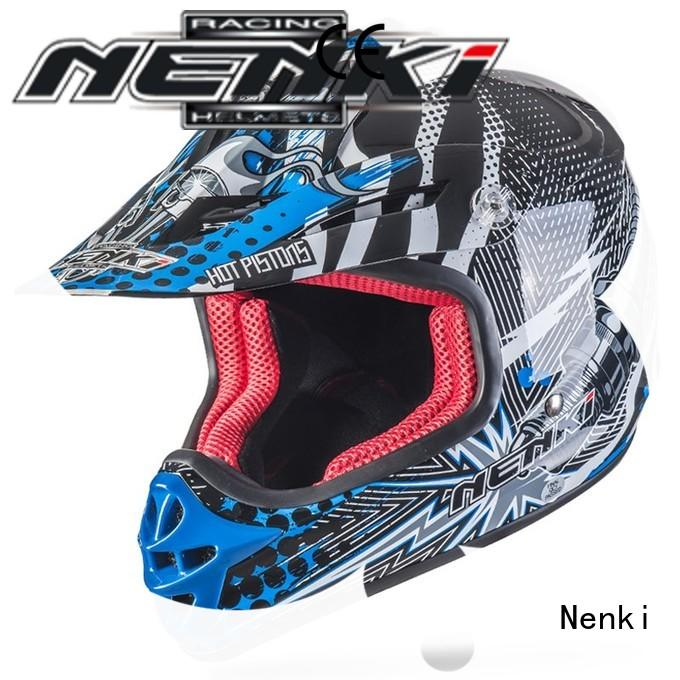 Multi Color affordable motocross helmets for sale Fiberglass Nenki