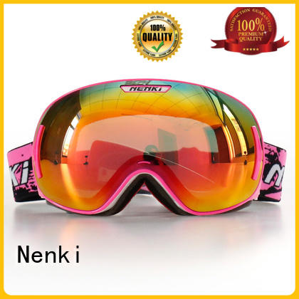 Hot skating top rated ski goggles Flexible Nenki Brand