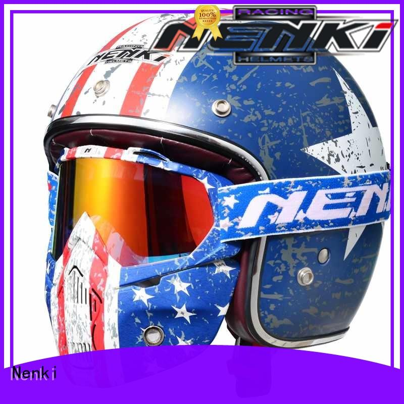 Nenki safest open face motorcycle helmet manufacturers for motorbike