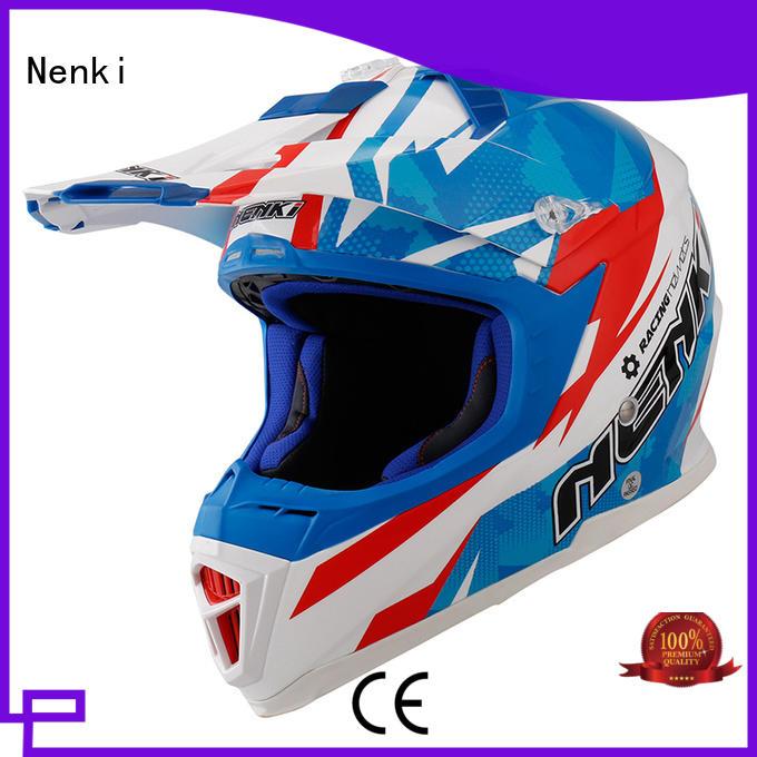 Nenki Brand safe Fiberglass motocross helmets for sale manufacture