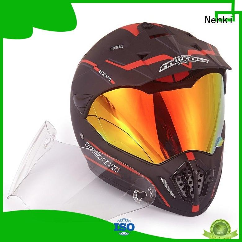 High quality Outdoor OEM dual sport helmet with sun visor Nenki