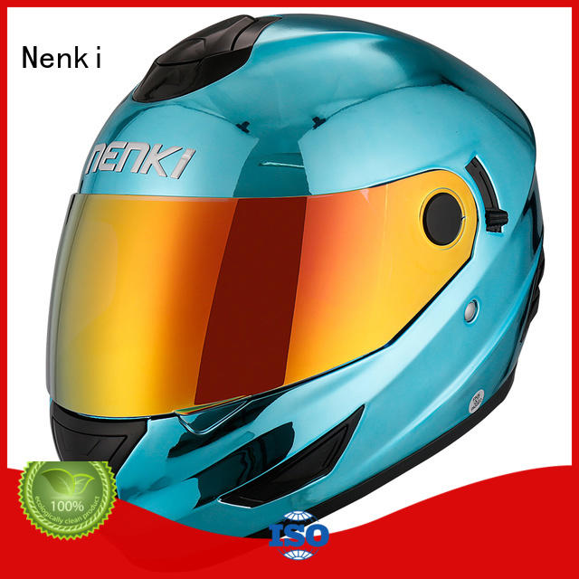 Hot discount full face motorcycle helmets wholesale Nenki Brand