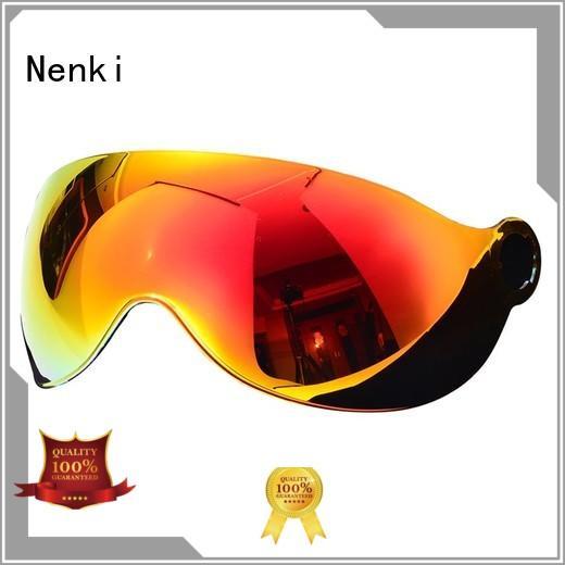 safe approved Hot selling Nenki Brand helmets visors supplier