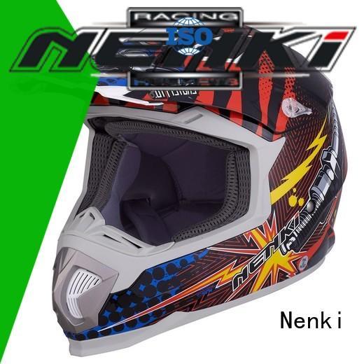 discount helmets colorful Fashion affordable Nenki Brand motocross helmets for sale