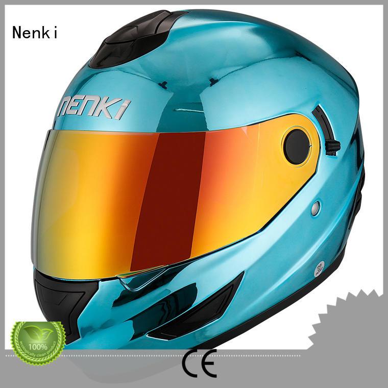 Custom fiberglass full face motorcycle helmets for sale safe Nenki