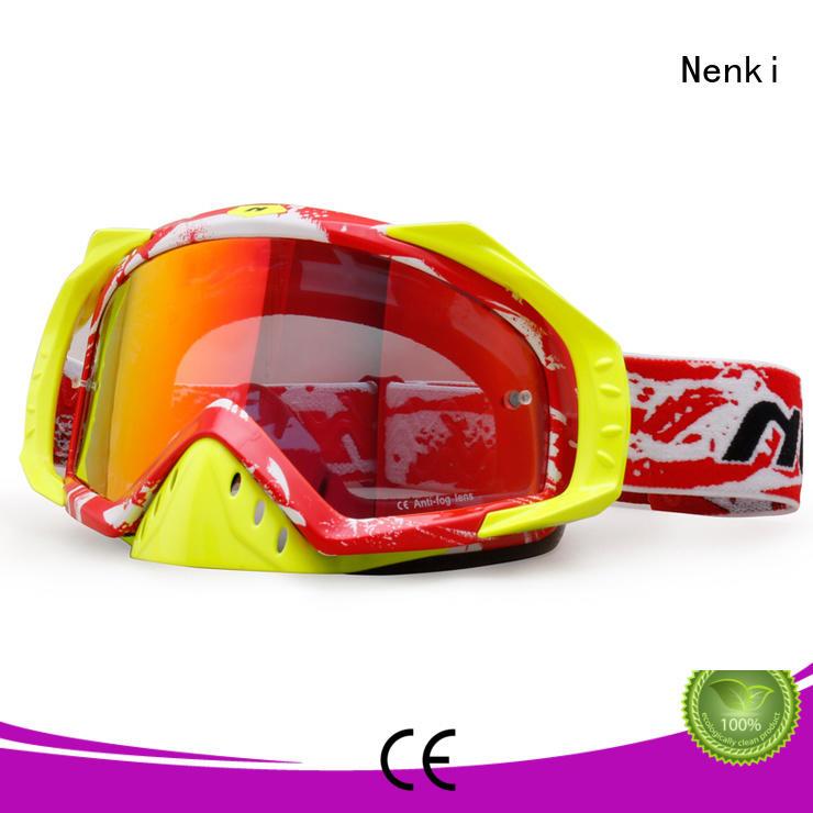 Nenki blue motocross goggles supply for motorbike