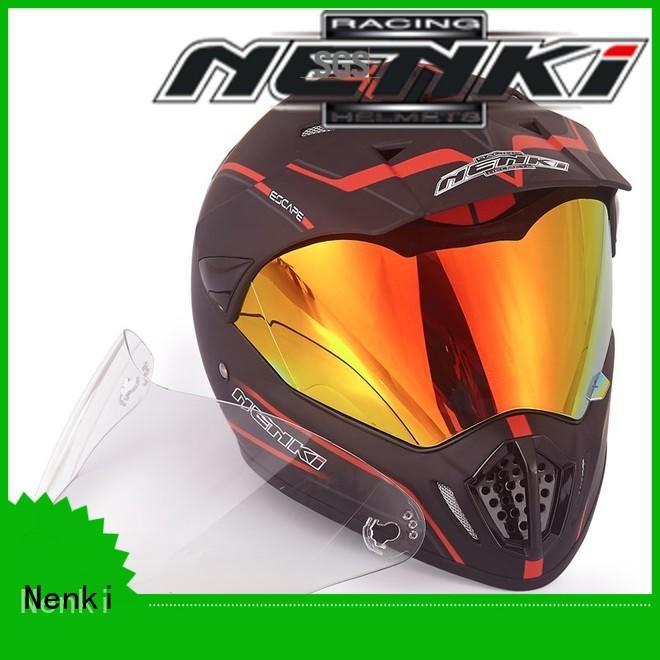 Comfortable Outdoor dual sport helmet with sun visor Top rated Nenki