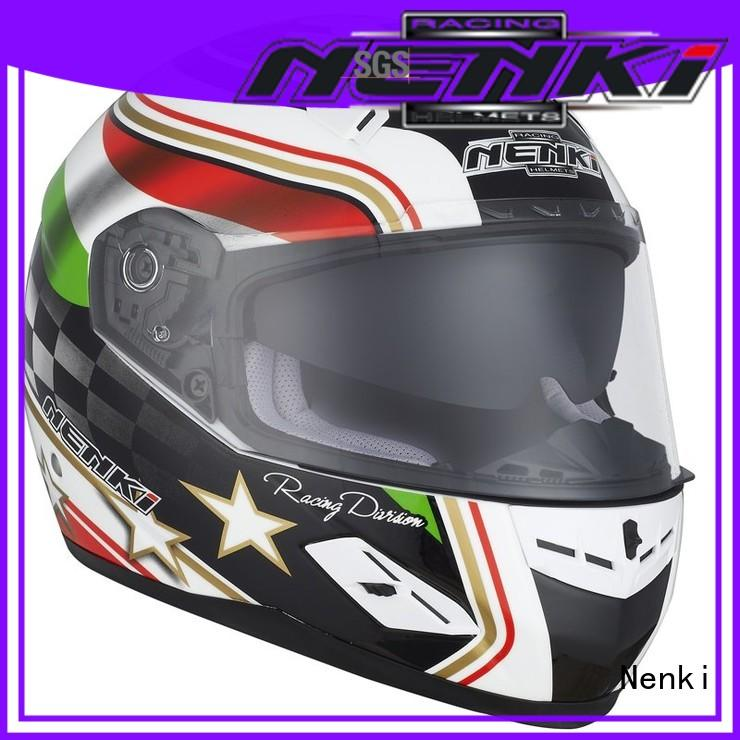 Protective new Top rated Nenki Brand full face motorcycle helmets for sale supplier