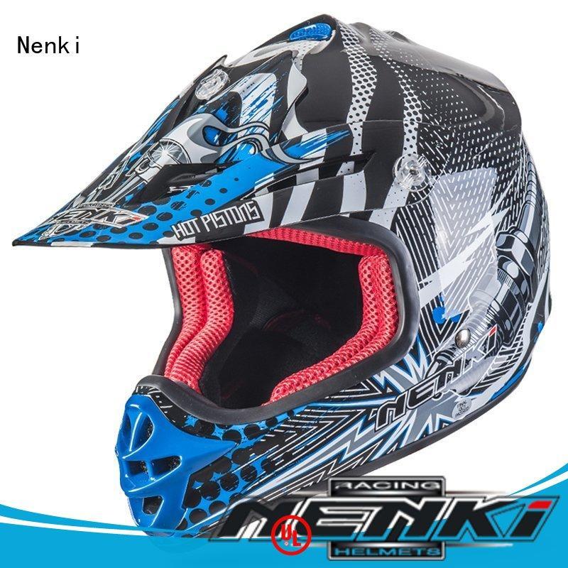 Nenki wholesale junior motocross helmet for outside