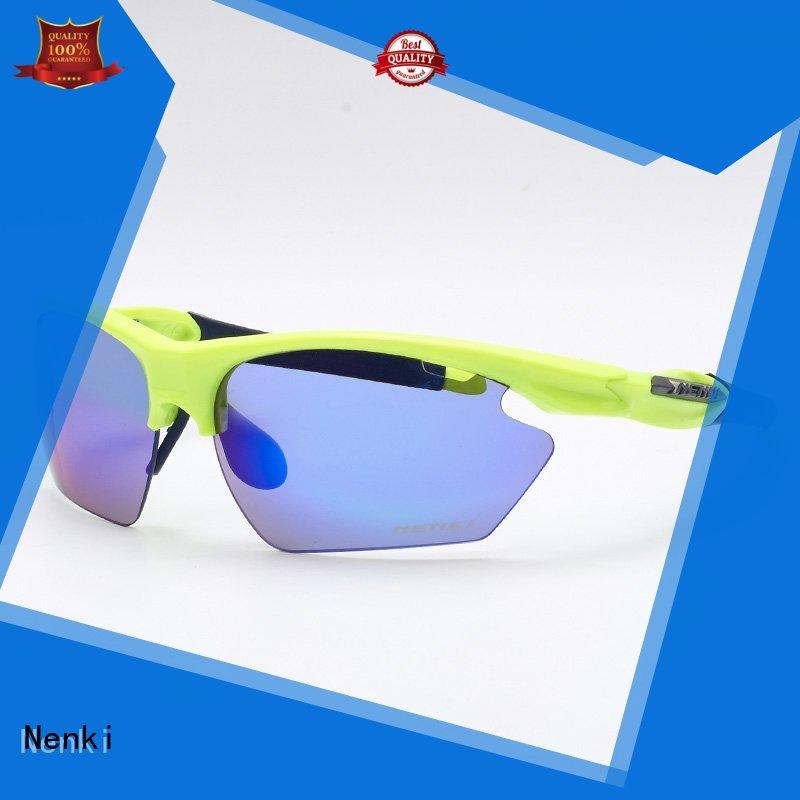 Nenki Brand Wholesale stylish Anti-Impact custom best sunglasses for bike riding