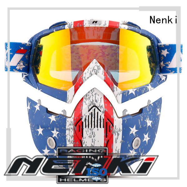 Hot open face helmets online wholesale Nenki Brand