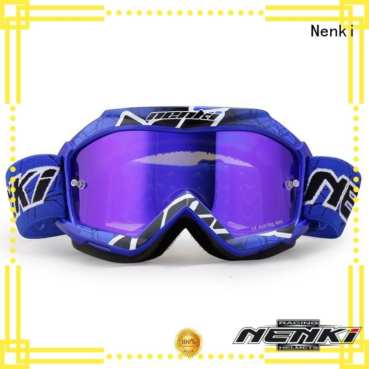 adjustable wholesale cheap motocross goggles Protective Nenki Brand company