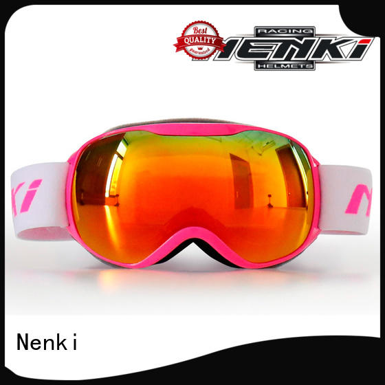 kids High quality certified Nenki Brand top rated ski goggles factory