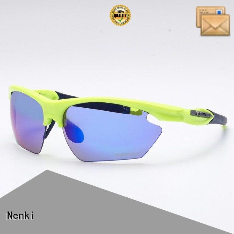 colorful Windproof Wholesale new road cycling sunglasses Nenki