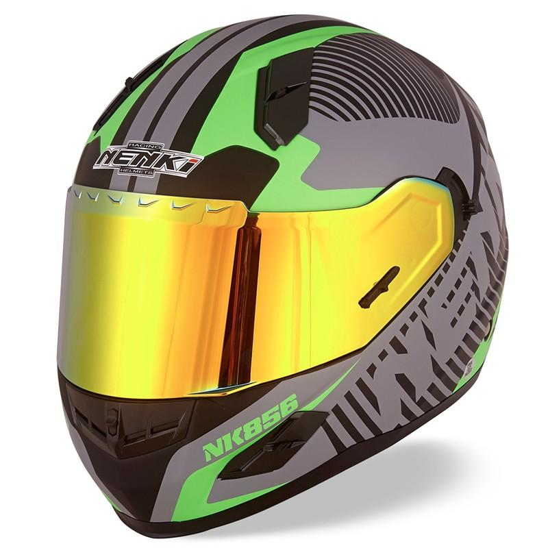Nenki full face helmet with goggles suppliers for outside-2