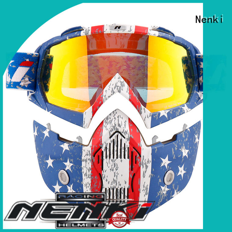 Nenki Brand Adult safe best open face motorcycle helmet