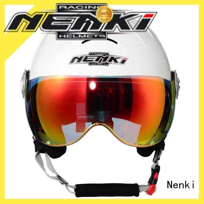 Nenki ladies ski helmet with visor factory for outside