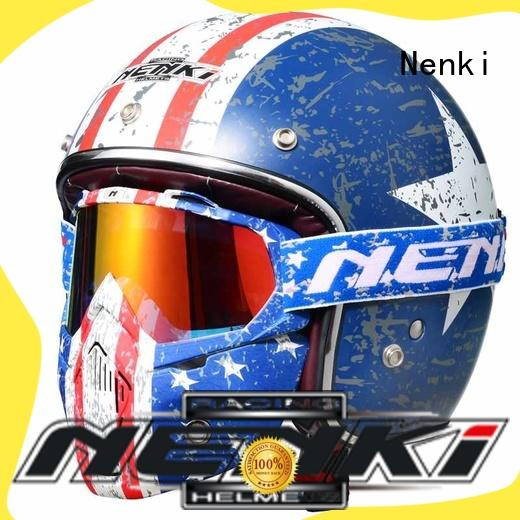 Nenki latest open face motorcycle helmets for sale for motorbike