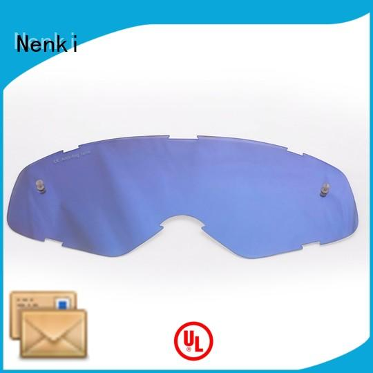 Motocross Goggles Lens Top rated approved Hot selling Nenki Brand tear off lens