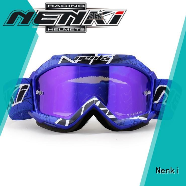 Anti-UV Adjustable best motocross goggles cheap Protective Nenki Brand