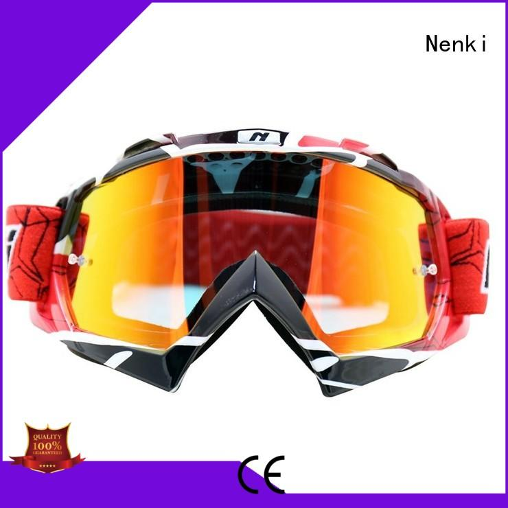 Nenki Brand cheap approved best motocross goggles adjustable