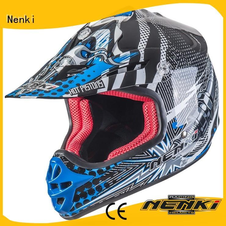 Nenki Brand safe certified Comfortable Fiberglass motocross helmets for sale