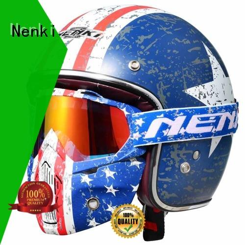 colorful cheap Protective open face helmets online stylish Nenki Brand