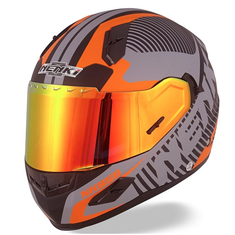 Nenki full face helmet with goggles suppliers for outside-1