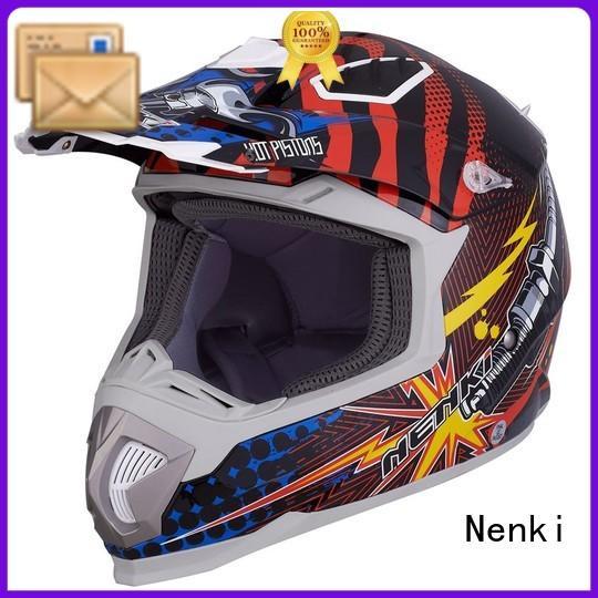 Multi Color Protective motocross helmets for sale Adult Nenki