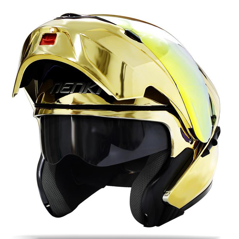Motorcycle Flip up Modular Full Face Helmet DOT Approved Street Bike Helmet NK815 Nenki Helmet
