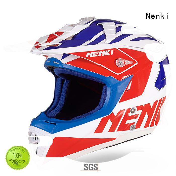 Nenki wholesale blue and white motocross helmets company for motorbike